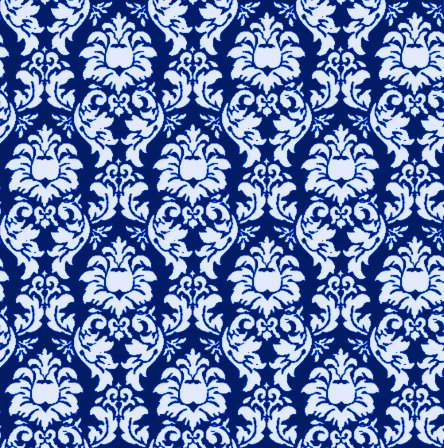 damask wallpaper seamless background blue background or
