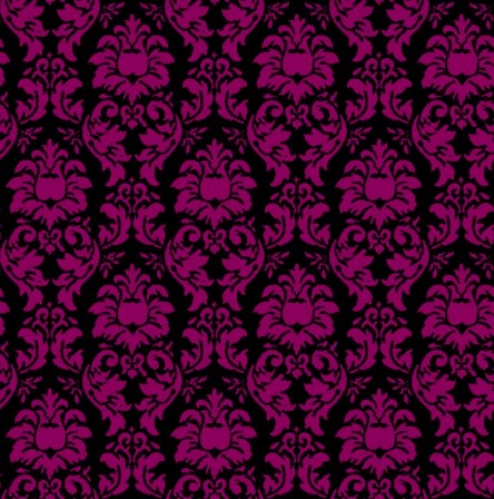 damask wallpaper seamless background magenta and black