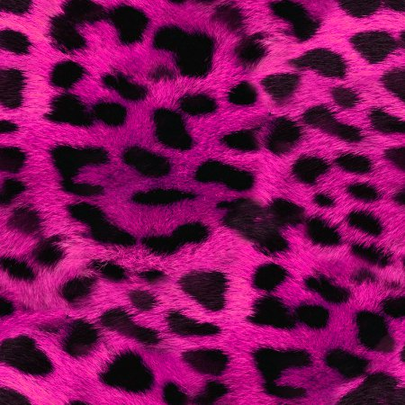 faux hot pink leopard fur seamless background pattern