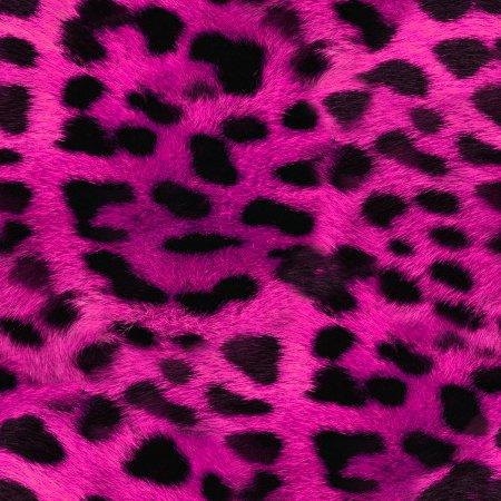 Faux Hot Pink Leopard Fur Seamless Background PatternNeon Pink Leopard Print Wallpaper