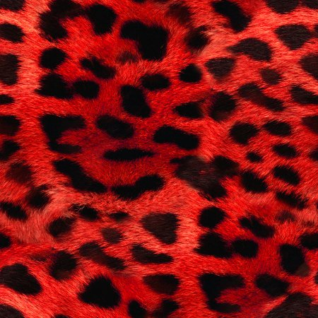 Faux Red Leopard Fur Seamless Background Pattern