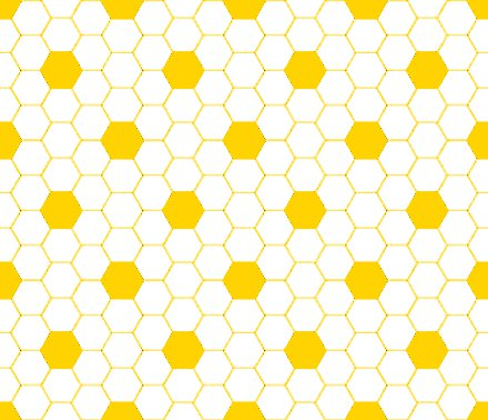 Gold And White Hexagon Tile Seamless Background Pattern