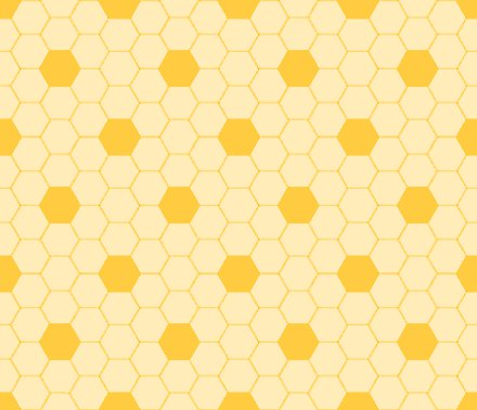 Gold Hexagon Tile Seamless Background Pattern Background