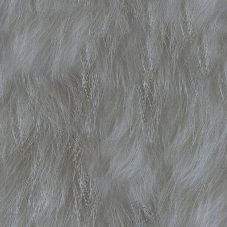 Gray Faux Fur Seamless Background Texture Pattern