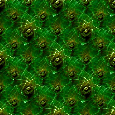 Green And Gold Abstract Flowers Background Texture Tiled