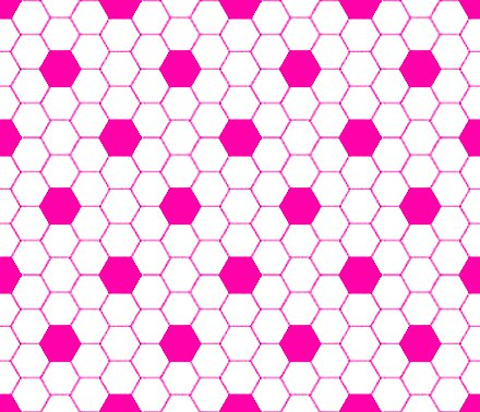 Hot Pink And White Hexagon Tile Seamless Background