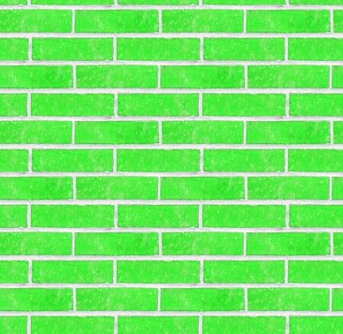 Neon Green Bricks Wall Seamless Background Texture