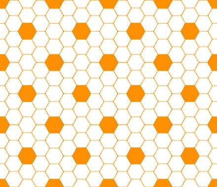 Orange And White Hexagon Tile Seamless Background Pattern