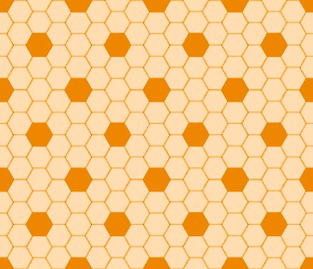 Orange Hexagon Tile Seamless Background Pattern Background