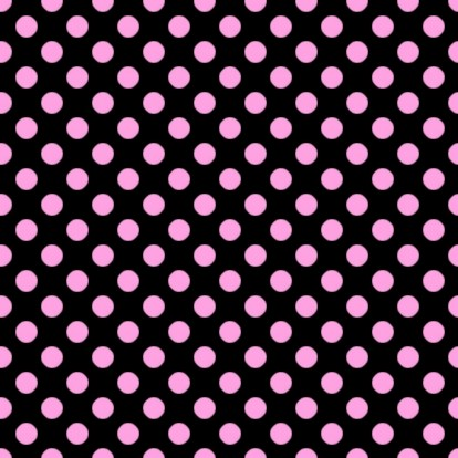 Pink Polkadots On Black Background Or Wallpaper Image