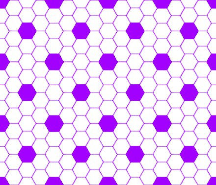Purple And White Hexagon Tile Seamless Background Pattern