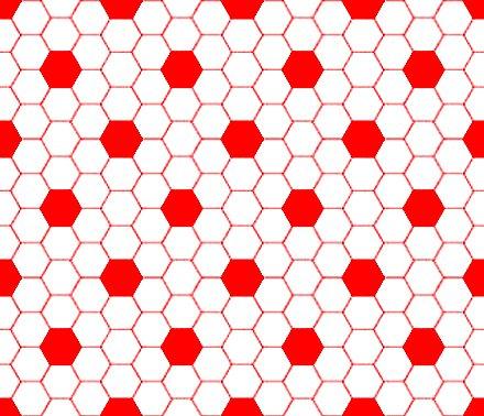 Hexagon tile patterns for floors