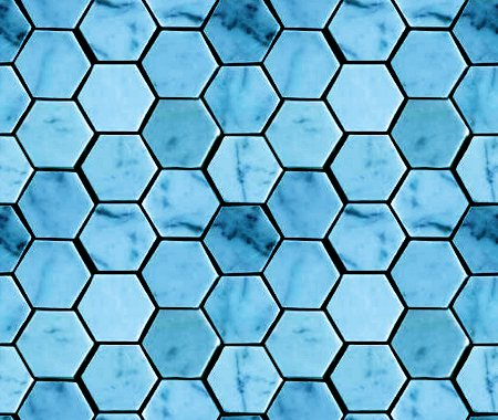 Sky Blue Hexagon Tile Background Seamless Background Or