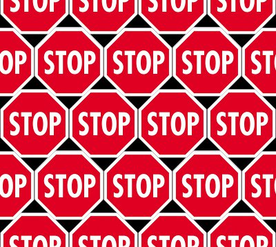 Small Stop Signs Background Seamless Or