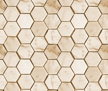 Tan Hexagon Tile Background Seamless Background Or